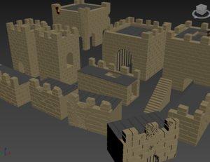 3D fortress castle model