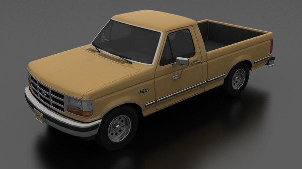 3D model f-150 pickup 1992 regular