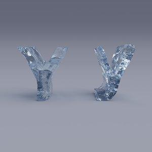 3D model letter y