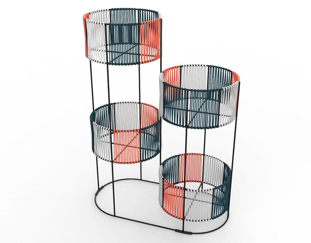 3D ariba woven set tiered