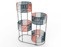 Ariba Woven Four Set Tiered Plant Stand