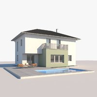 3D model contemporary house 64