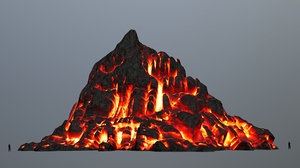 3D mount mountain model