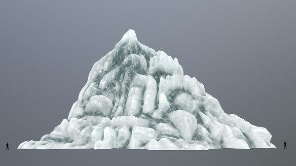 ice mount mountain 3D model