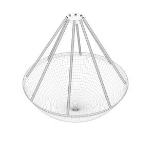 3D model metal ceiling light hanging