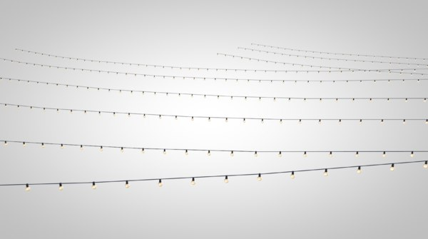 string lights 3D model