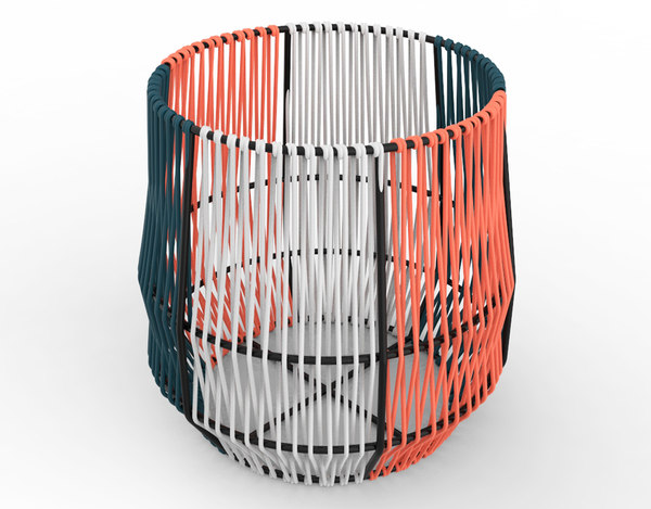 3D model ariba woven plant stand