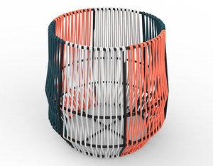 3D model ariba woven plant stand
