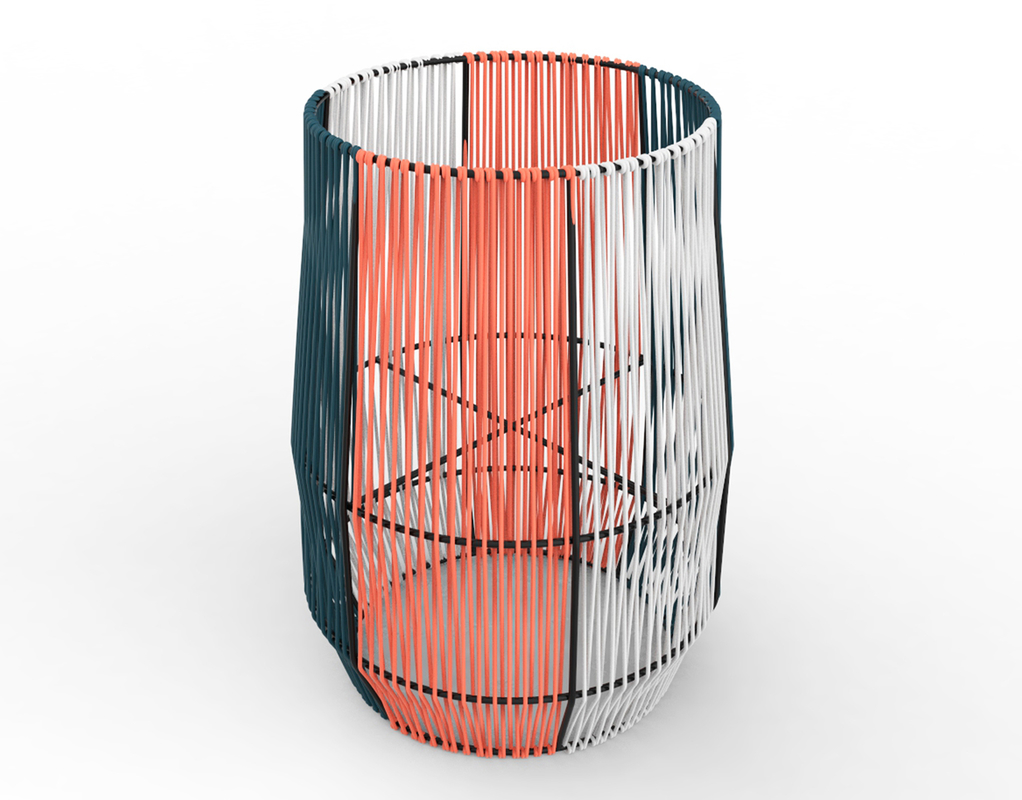 3D ariba woven plant stand