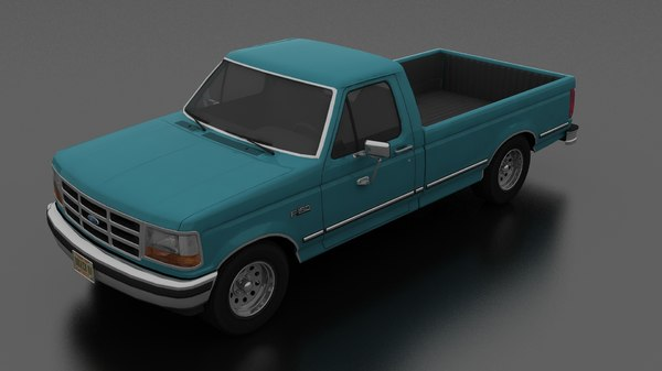 3D f-150 pickup 1992 regular model