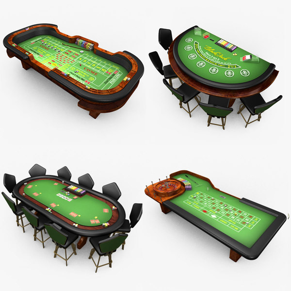 casino poker table - model