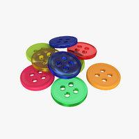 3D button model
