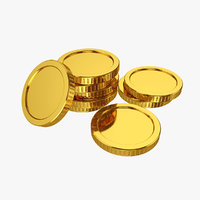 3D gold coin