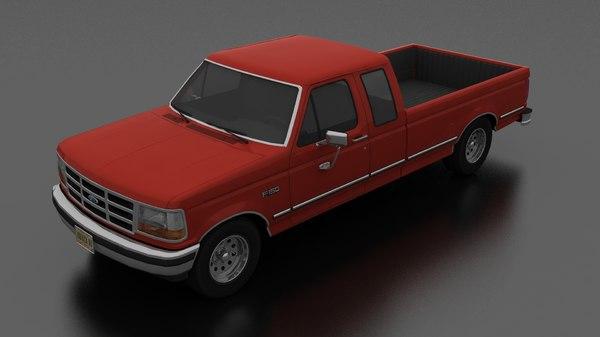 3D f-150 pickup 1992 supercab model