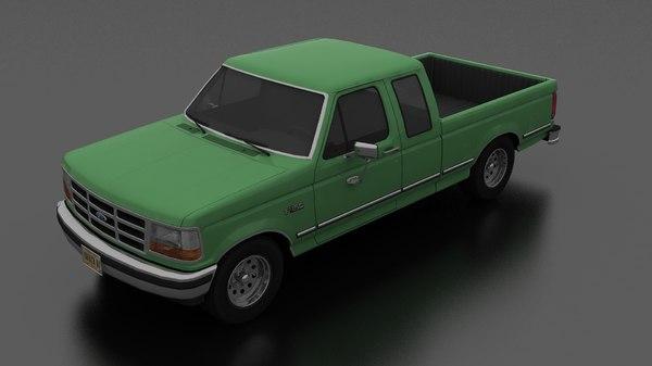 f-150 pickup 1992 supercab 3D