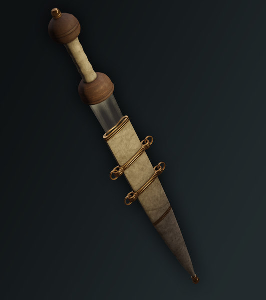3D ancient roman gladius sword model