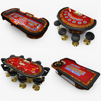 Casino Tables - Red