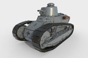 3D model tank renault ft17