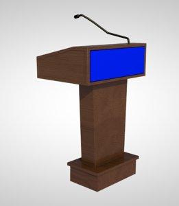 podium speaker stand 3D model