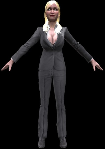 3D business woman sexy suit