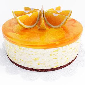 orange cake 2 3D model