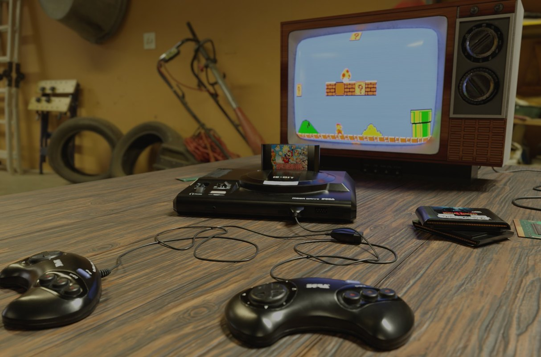 Sega Mega Drive + old TV