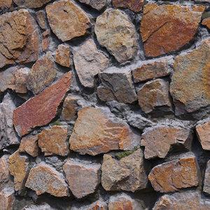 3D model real scan wall granite