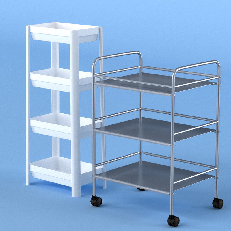 3D bathroom shelf model