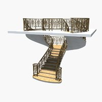 spiral staircase 4 3D