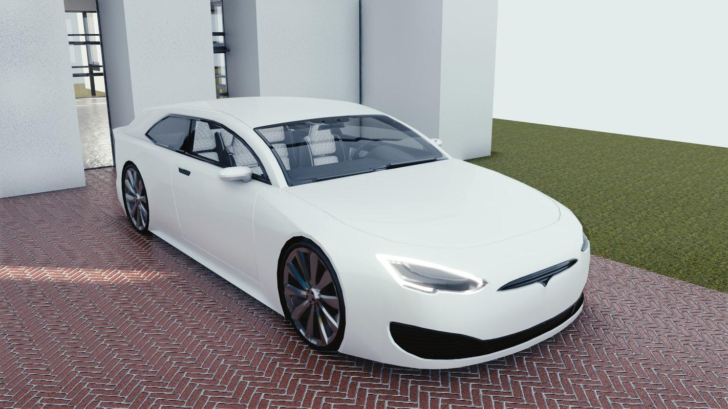 3D car blender eevee 2 model