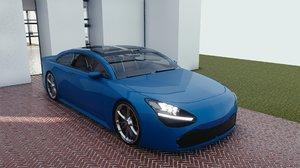 3D car blender eevee 2