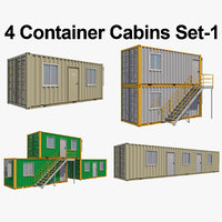 Container Cabins Set_1