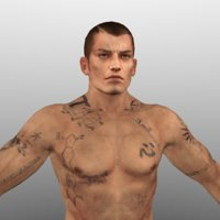 3D rigged nude male characters