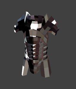 armor character 3D model