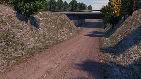road forest 3D model