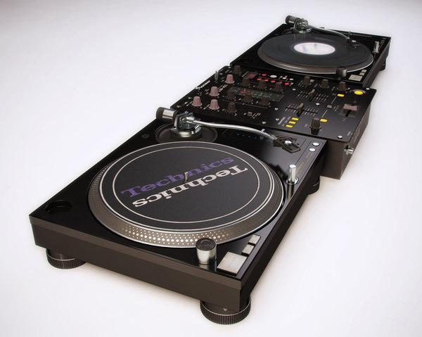 dj mixer technics pioneer 3D model