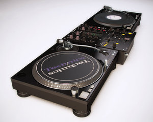 dj mixer technics pioneer 3D model