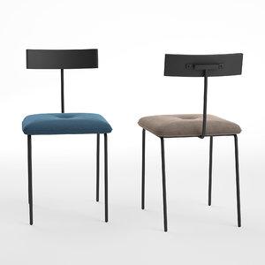 3D alba dining chair model
