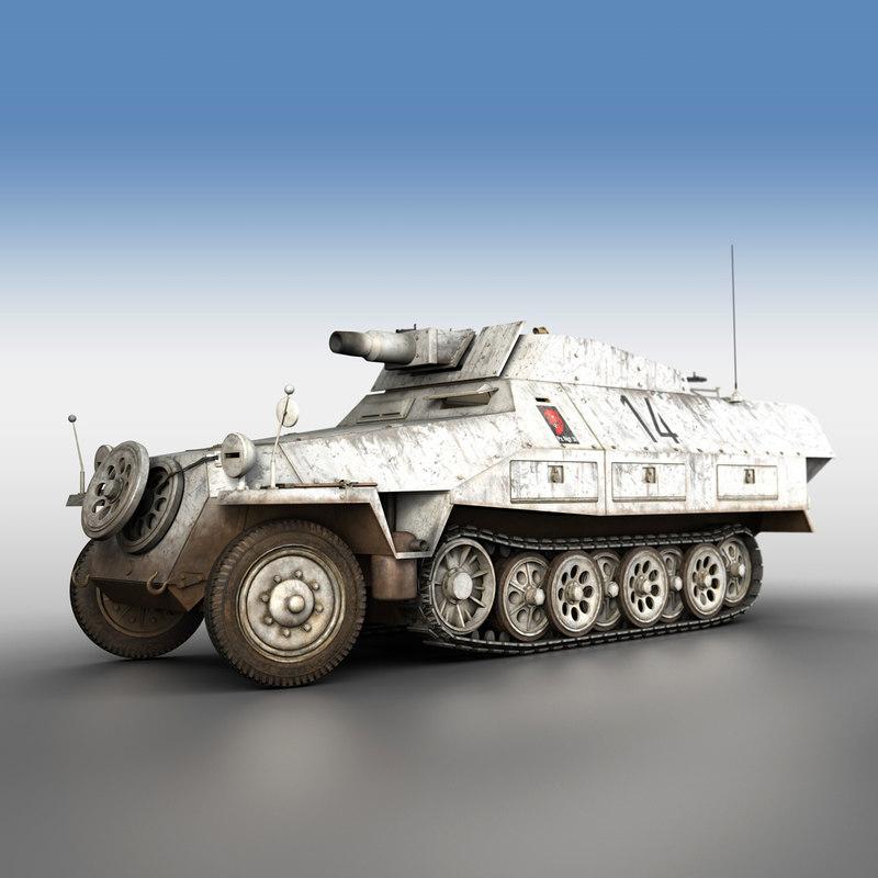 sd kfz 251 9 3D model