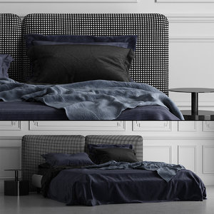3D minotti tatlin cover bed model