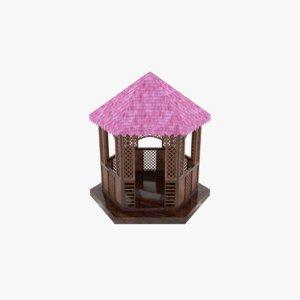 gazebo structure architecture 3D model