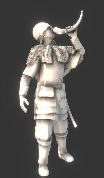 viking drunk 3D model