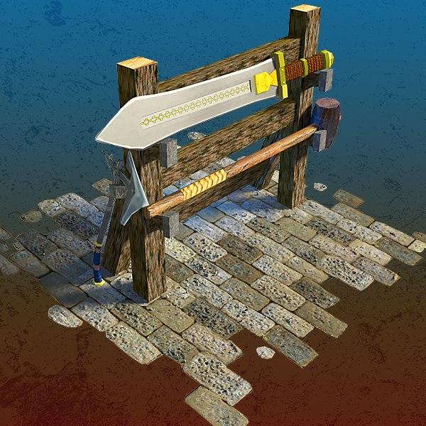 3D medieval rack model