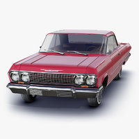 retro chevrolet impala 1963 3D model