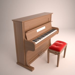 piano chair 3D model