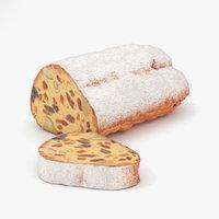 3D model pastry dessert food