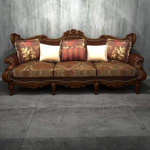 deluxe multi-seater sofa 2 3D model