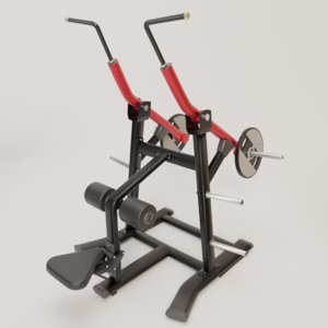 gym exercises 3D model