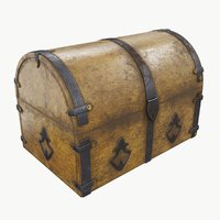 3D old chest 02 model
