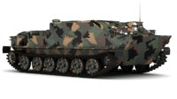 soviet btr-50 camuflag 3D model